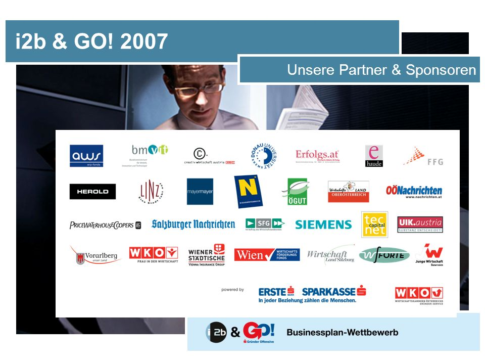 i2b & GO! 2007 Unsere Partner & Sponsoren