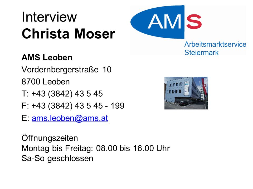 Interview Christa Moser