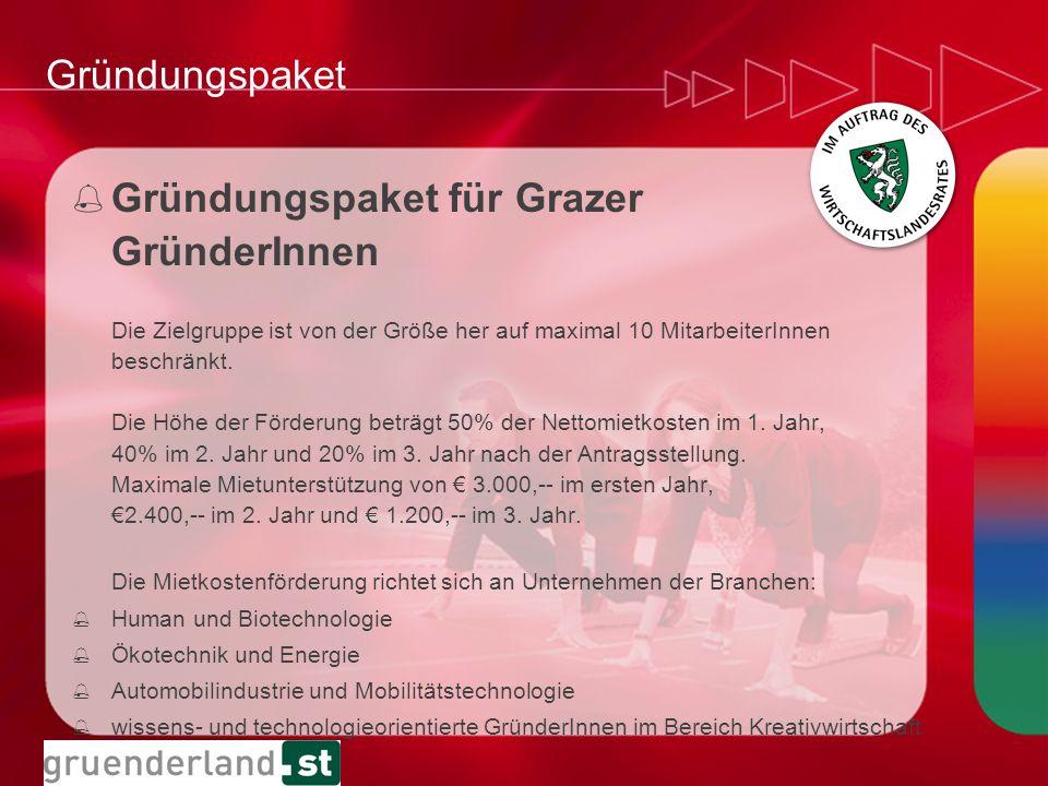 Gründungspaket für Grazer GründerInnen