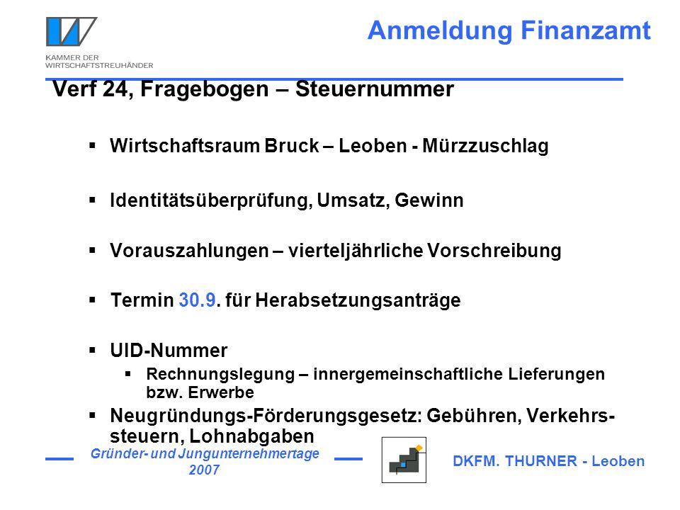 Anmeldung Finanzamt Verf 24, Fragebogen – Steuernummer