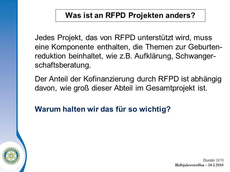 Was ist an RFPD Projekten anders