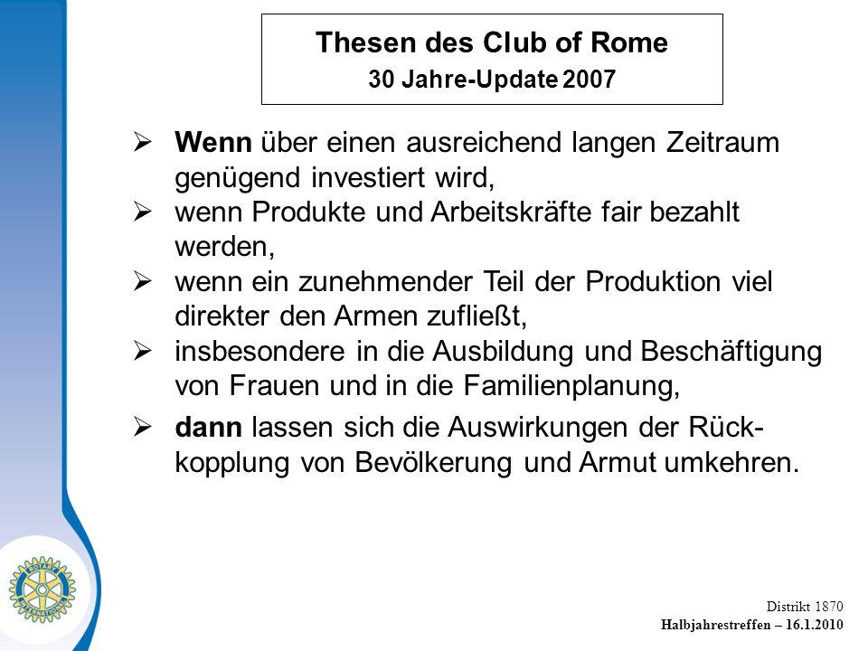 Thesen des Club of Rome 30 Jahre-Update 2007