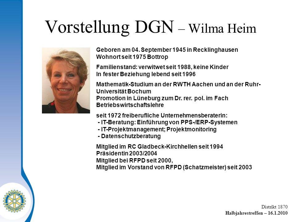 Vorstellung DGN – Wilma Heim