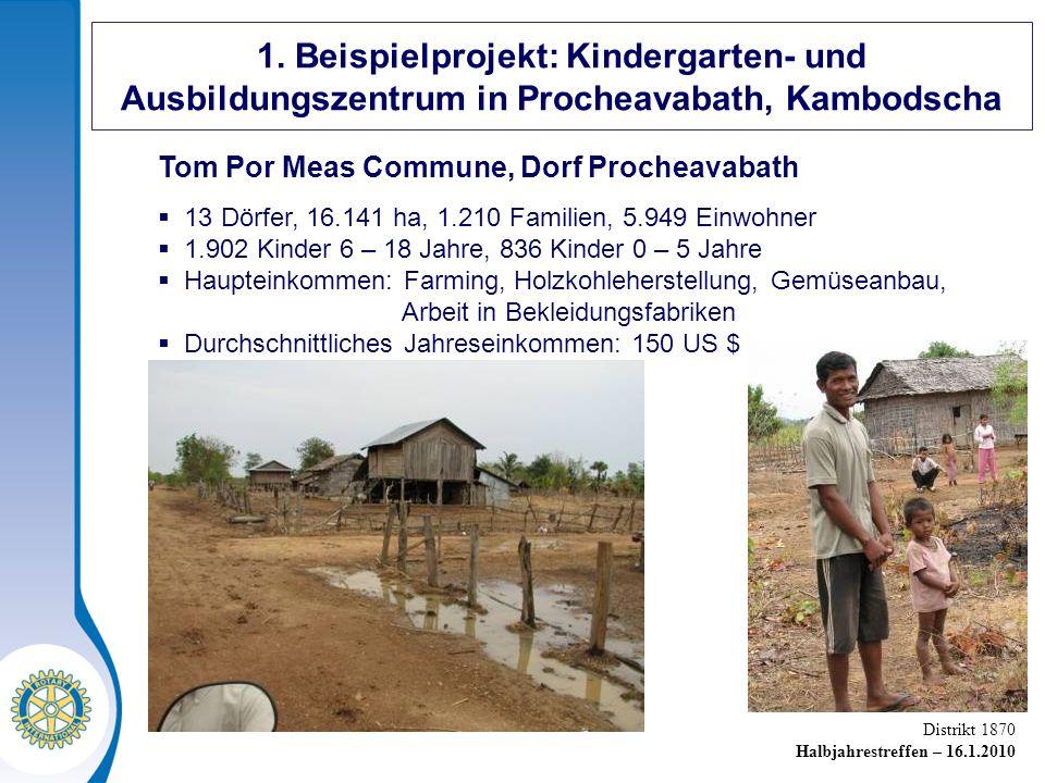1. Beispielprojekt: Kindergarten- und Ausbildungszentrum in Procheavabath, Kambodscha