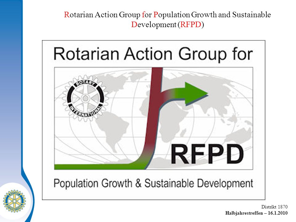 Rotarian Action Group for Population Growth and Sustainable Development (RFPD)