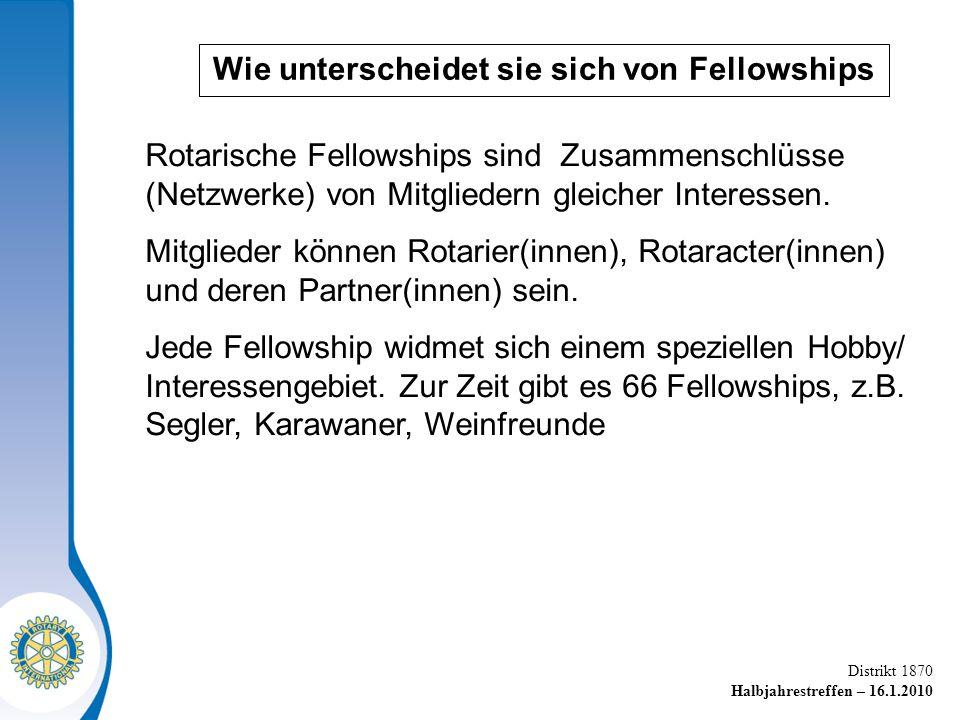 Wie unterscheidet sie sich von Fellowships