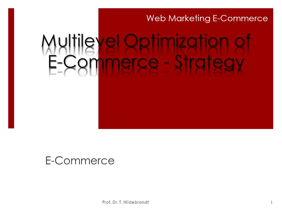 Multilevel Optimization of