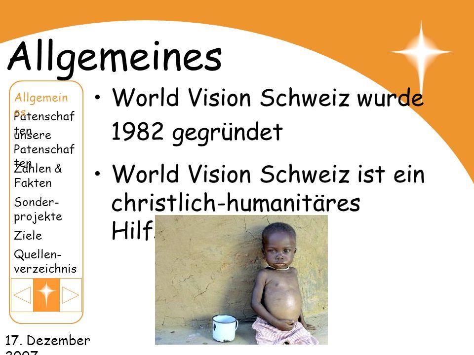 Allgemeines World Vision Schweiz wurde 1982 gegründet