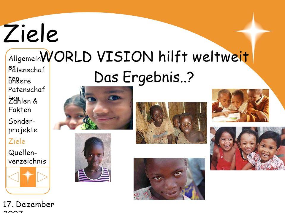 WORLD VISION hilft weltweit
