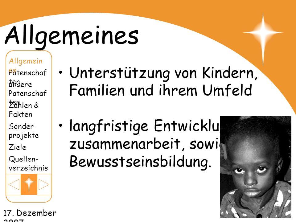 Allgemeines Unterstützung von Kindern, Familien und ihrem Umfeld