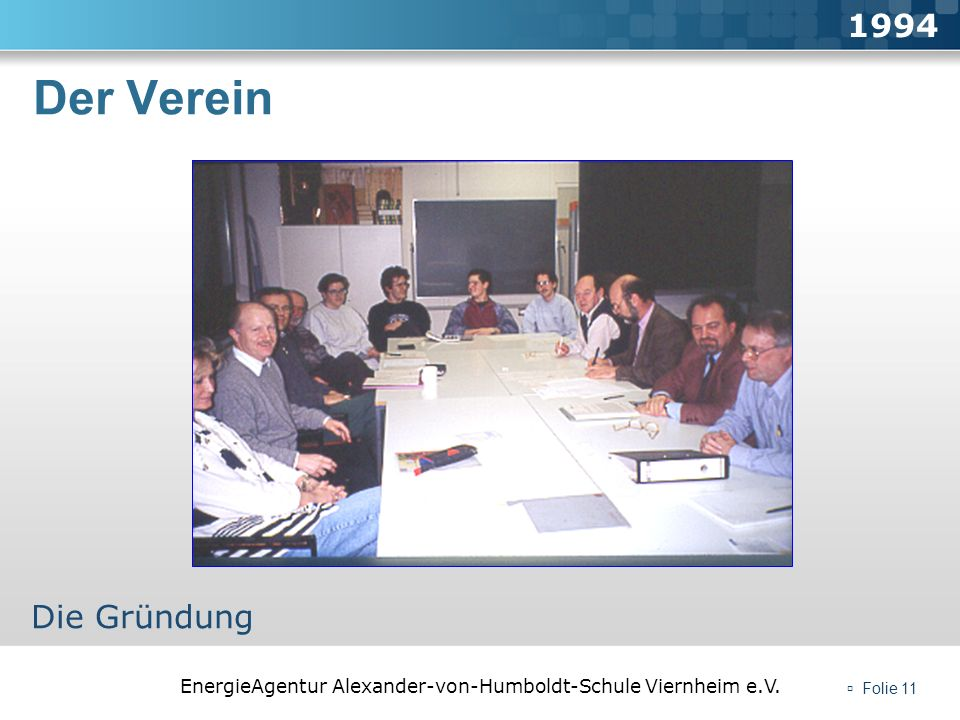 1994 Der Verein Die Gründung  Folie 11
