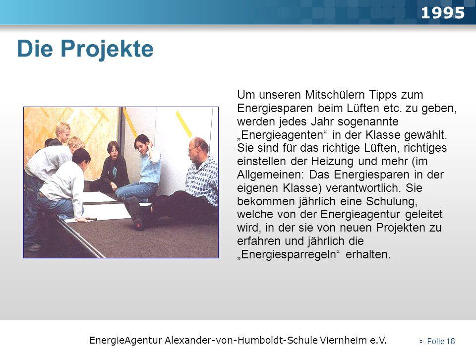1995 Die Projekte.