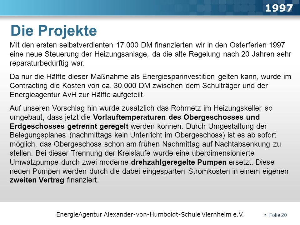 1997 Die Projekte.