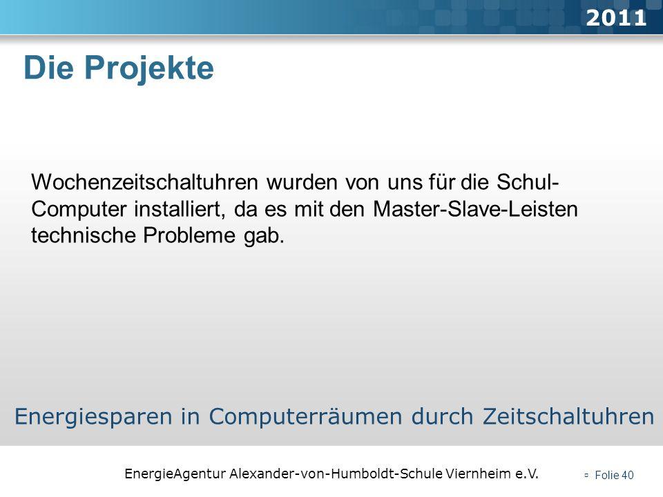 2011 Die Projekte.