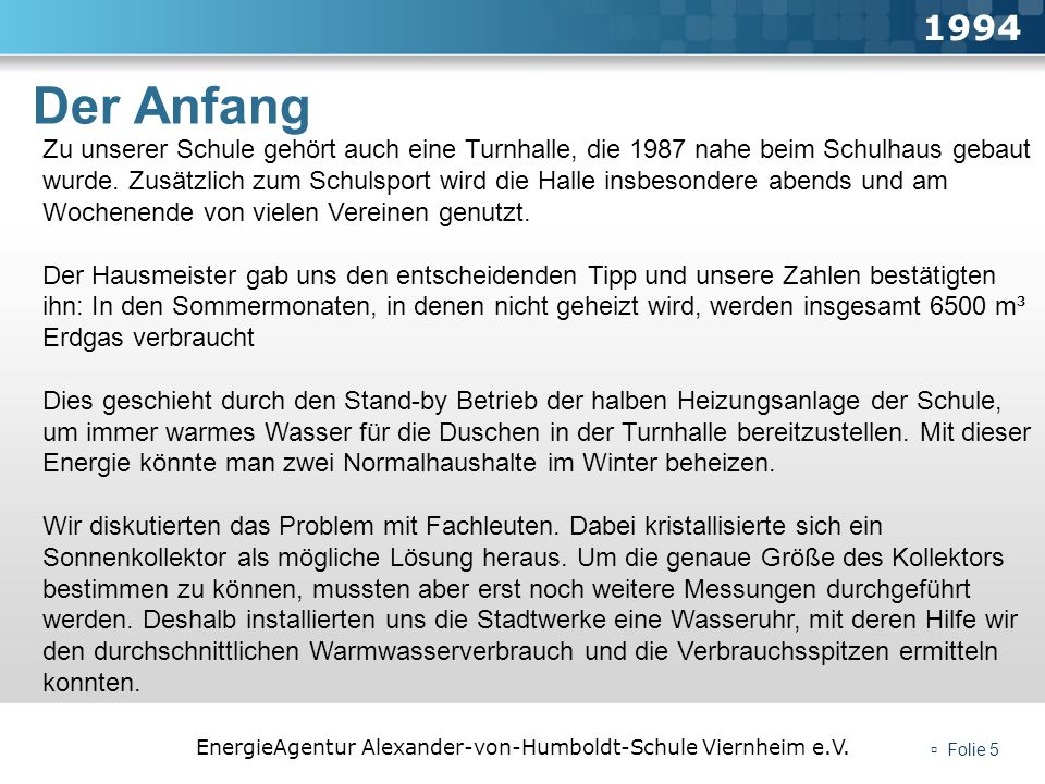 1994Der Anfang.