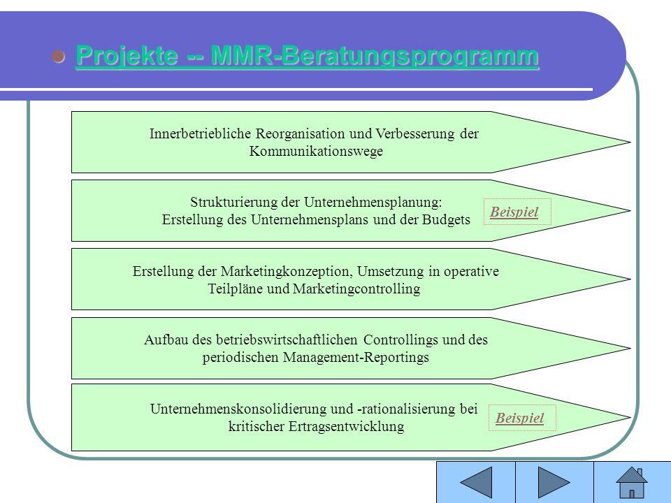 Projekte -- MMR-Beratungsprogramm
