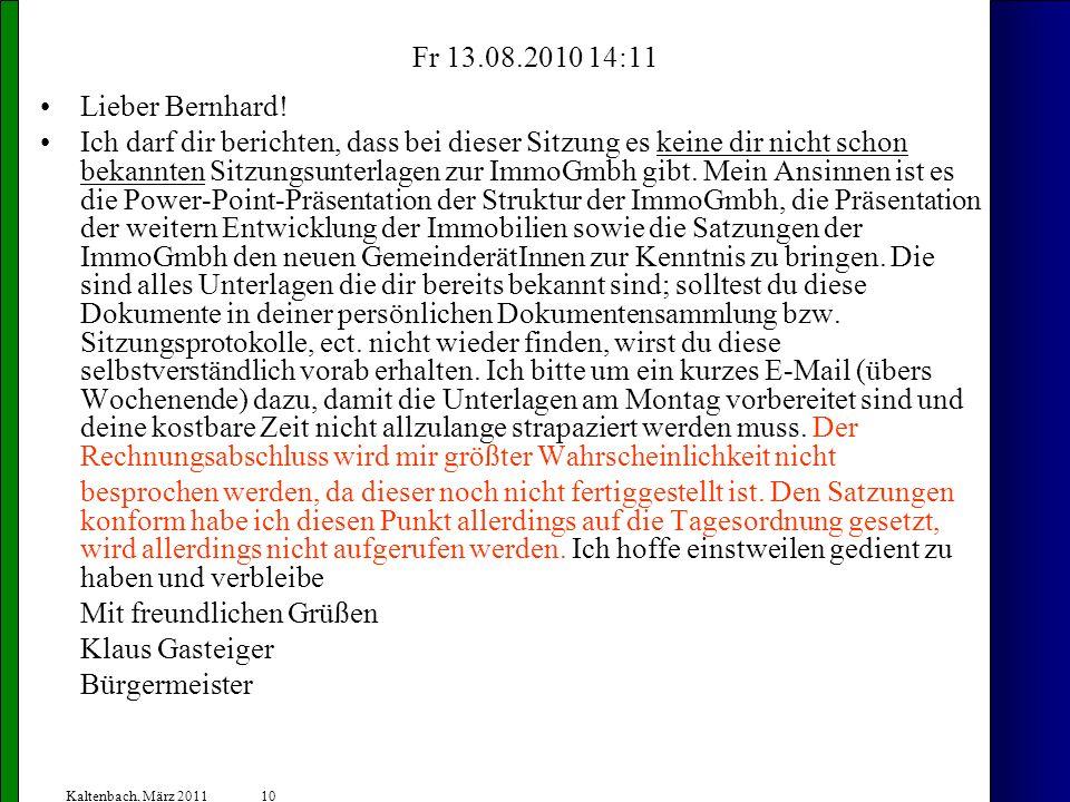 Mit freundlichen Grüßen Klaus Gasteiger Bürgermeister