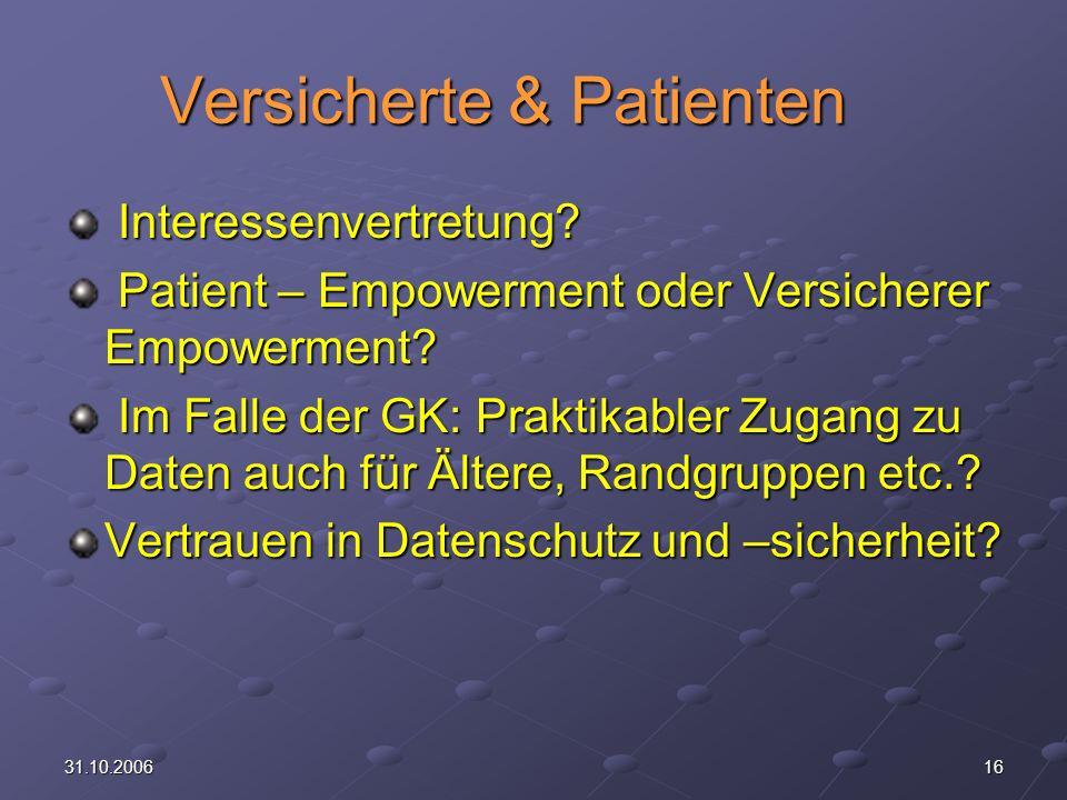 Versicherte & Patienten