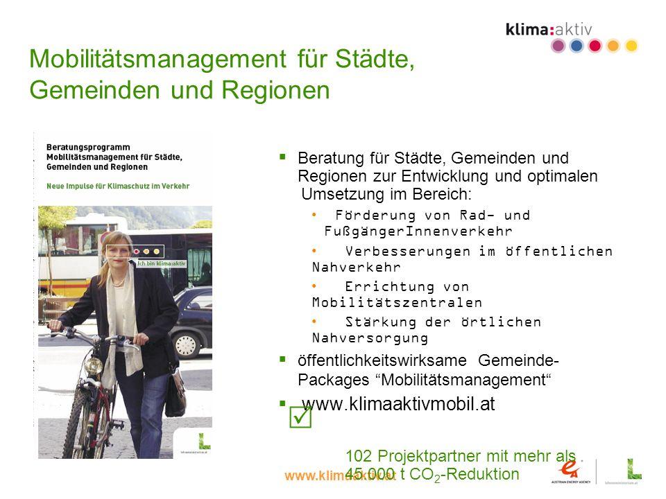 Mobilitätsmanagement für Städte, Gemeinden und Regionen