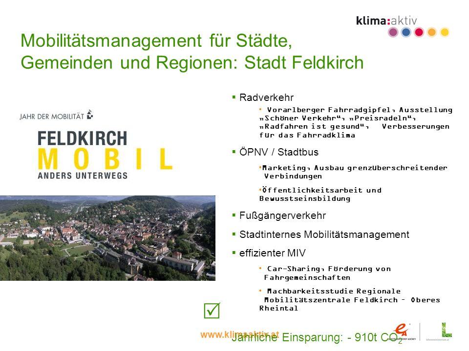 Mobilitätsmanagement für Städte, Gemeinden und Regionen: Stadt Feldkirch