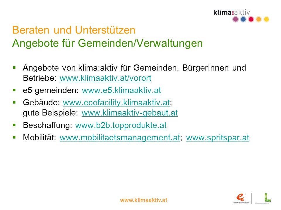 Beraten und Unterstützen Angebote für Gemeinden/Verwaltungen