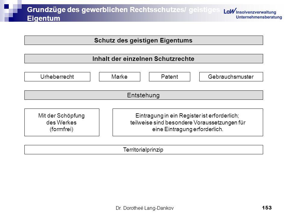 Grundzüge des gewerblichen Rechtsschutzes/ geistiges Eigentum