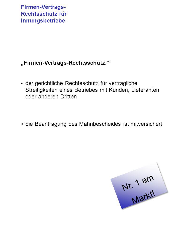 Nr. 1 am Markt! Firmen-Vertrags-Rechtsschutz für Innungsbetriebe