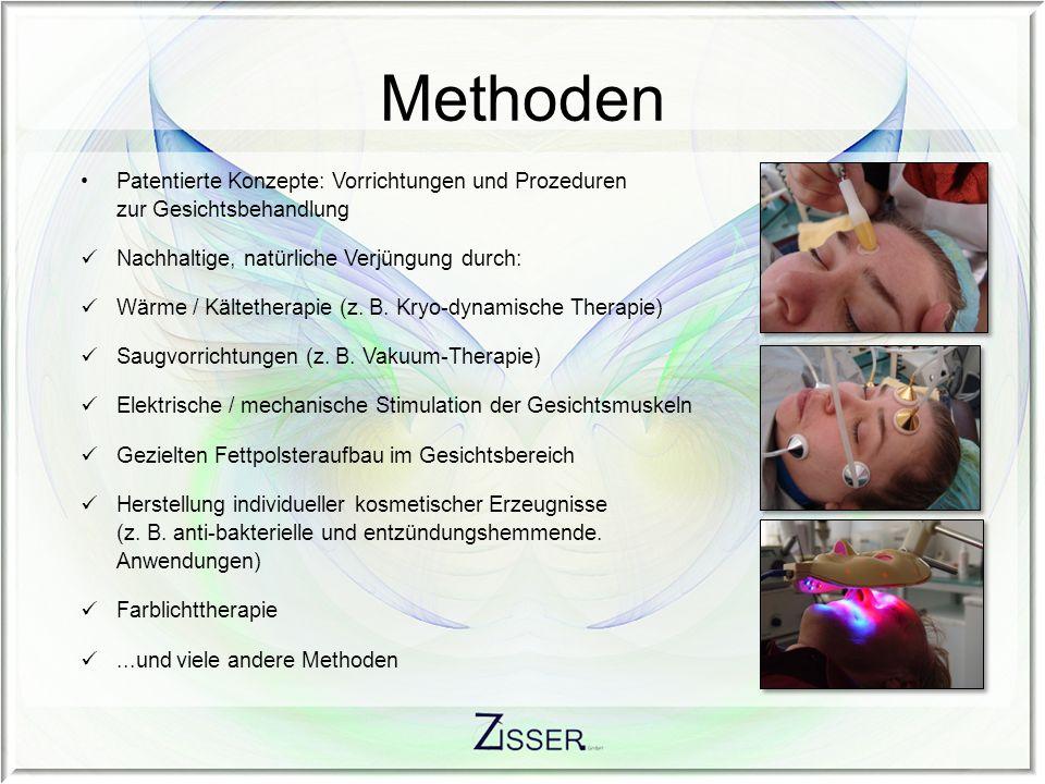 Methoden Patentierte Konzepte: Vorrichtungen und Prozeduren zur Gesichtsbehandlung. Nachhaltige, natürliche Verjüngung durch: