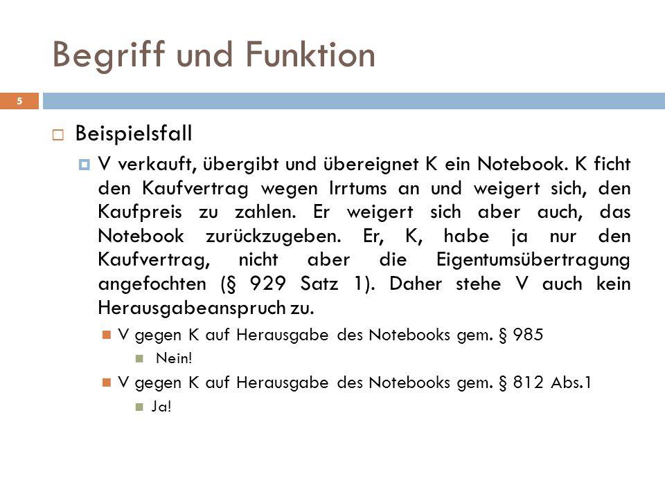 Begriff und Funktion Beispielsfall