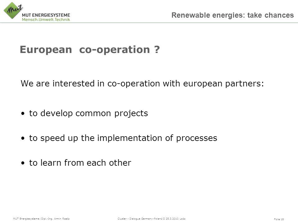 European co-operation