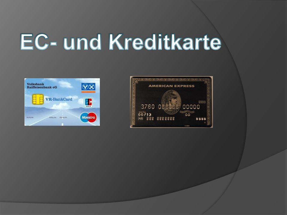 EC- und Kreditkarte