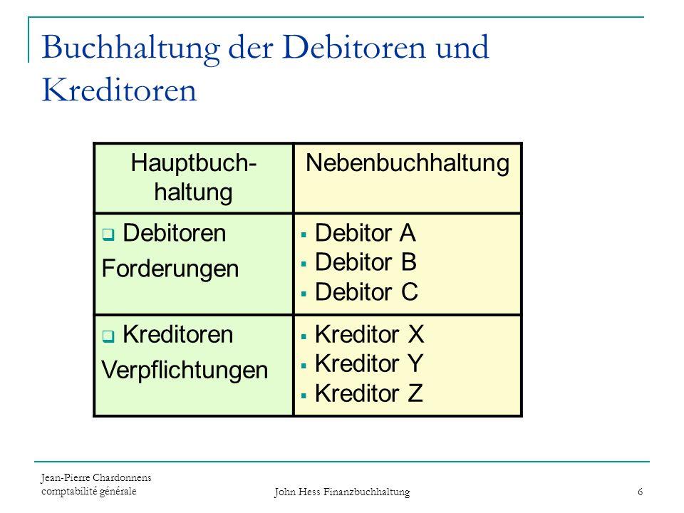Buchhaltung der Debitoren und Kreditoren