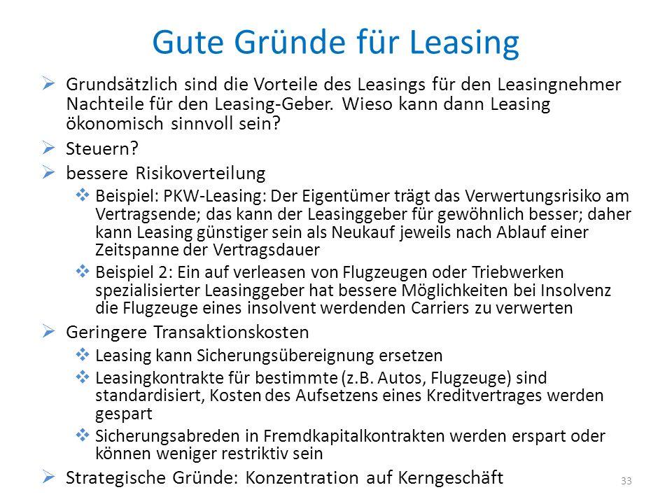 Gute Gründe für Leasing
