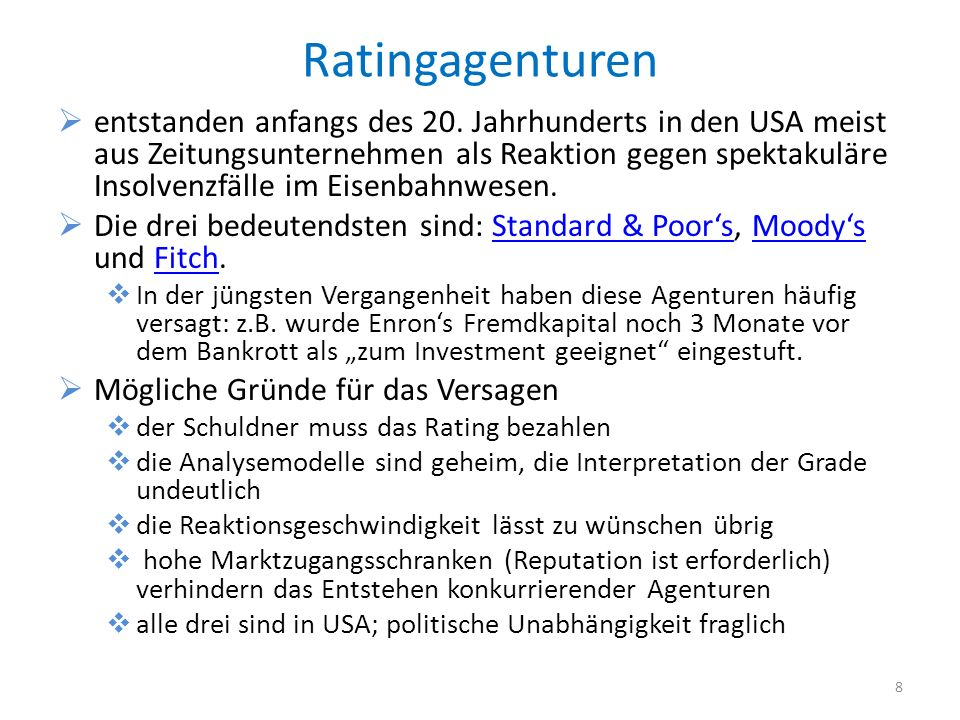 Ratingagenturen