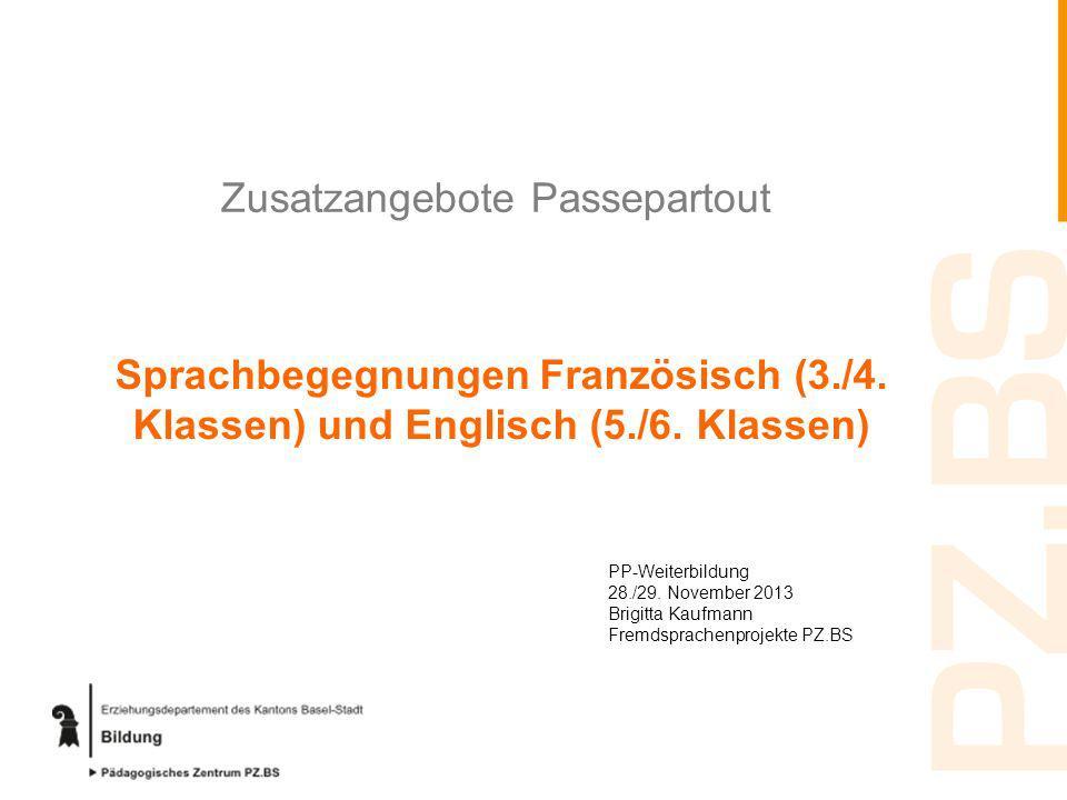 Zusatzangebote Passepartout