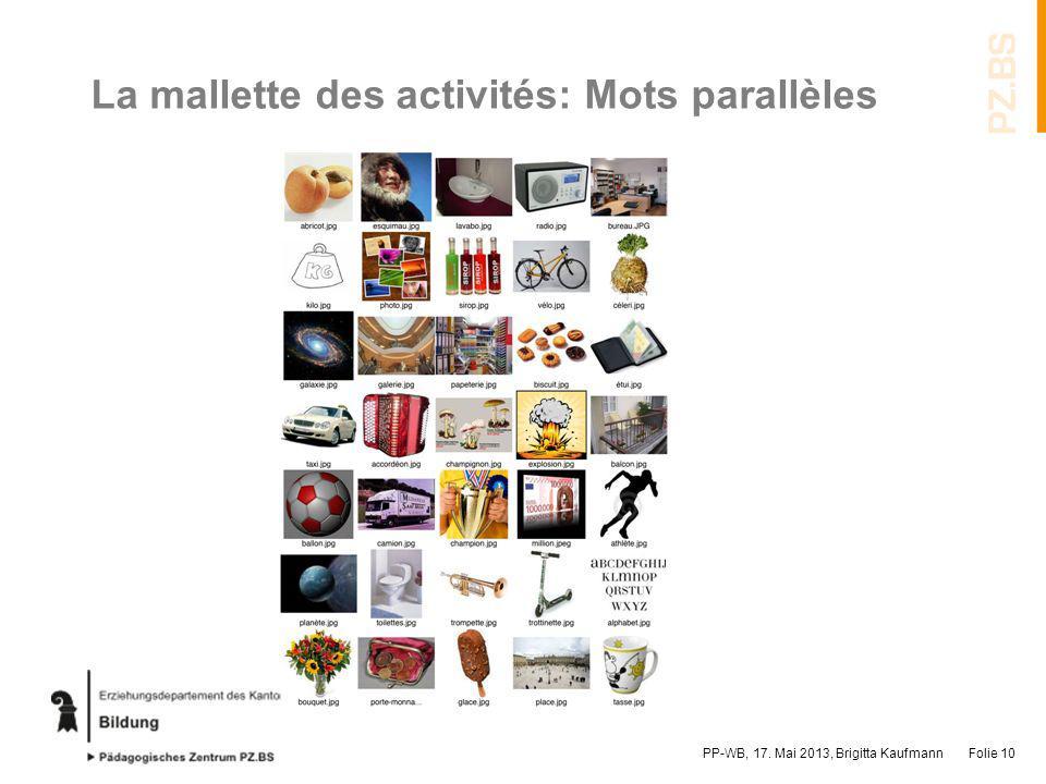 La mallette des activités: Mots parallèles