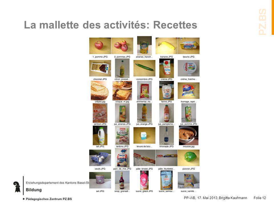 La mallette des activités: Recettes
