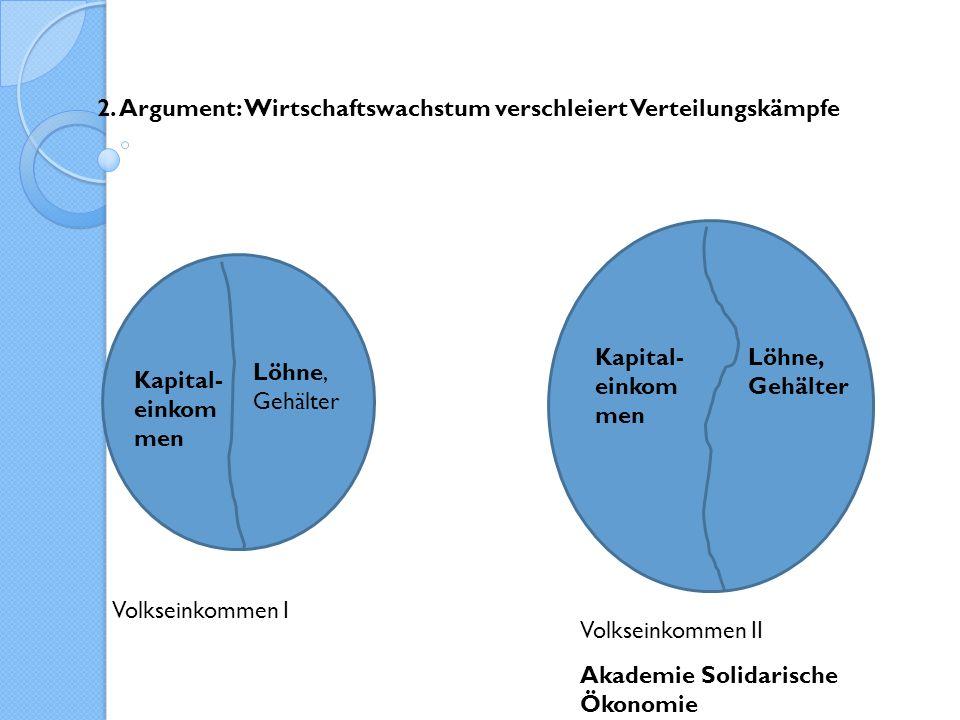 2. Argument: Wirtschaftswachstum verschleiert Verteilungskämpfe