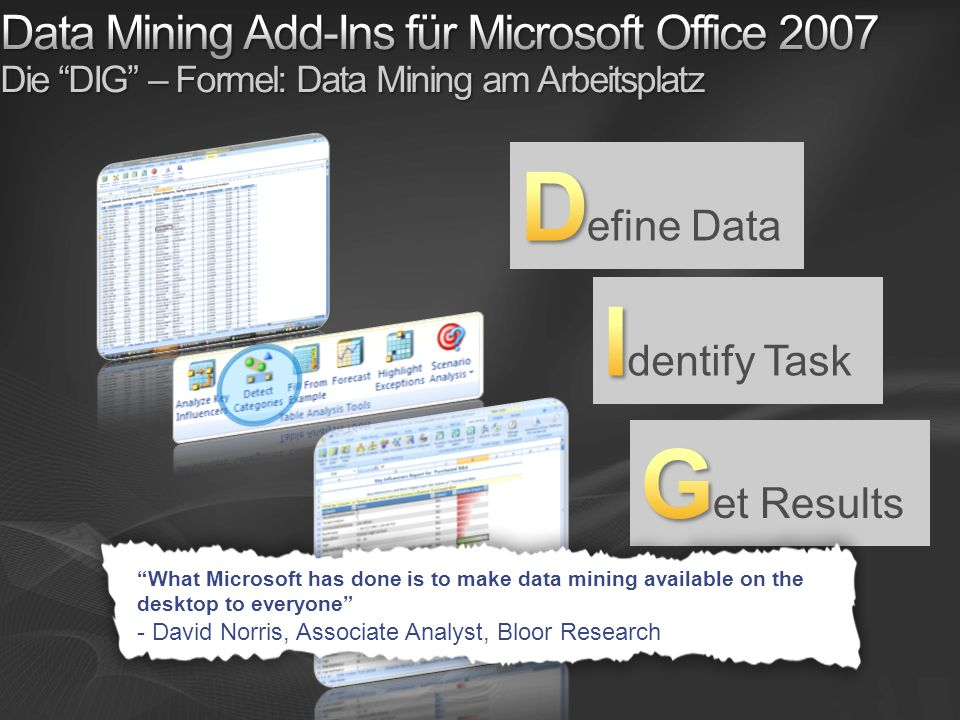 Define Data Identify Task Get Results