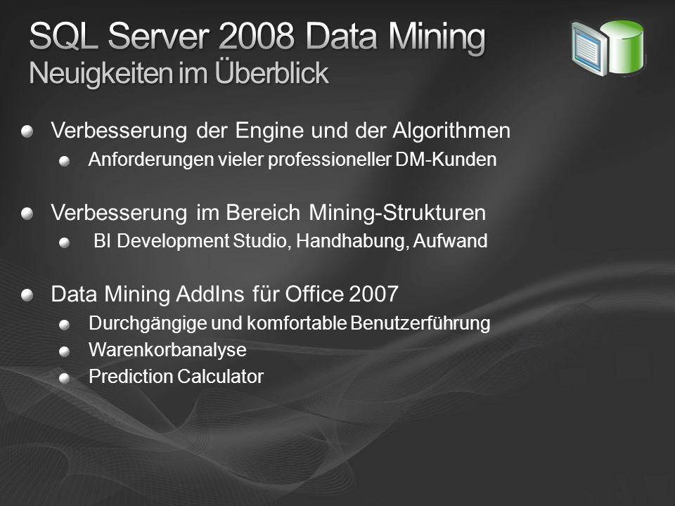 SQL Server 2008 Data Mining Neuigkeiten im Überblick