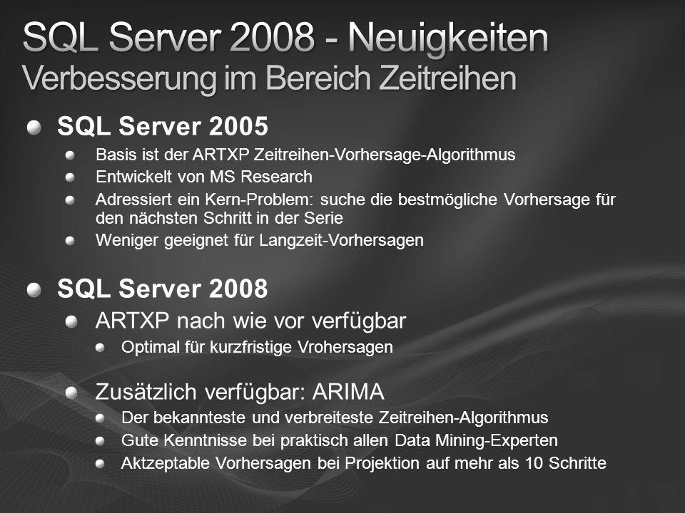 SQL Server 2008 - Neuigkeiten Verbesserung im Bereich Zeitreihen