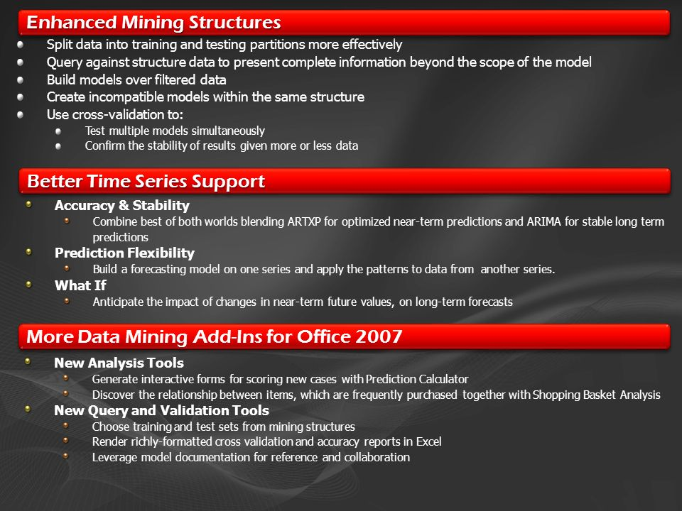 Enhanced Mining Structures