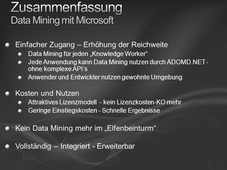 Zusammenfassung Data Mining mit Microsoft