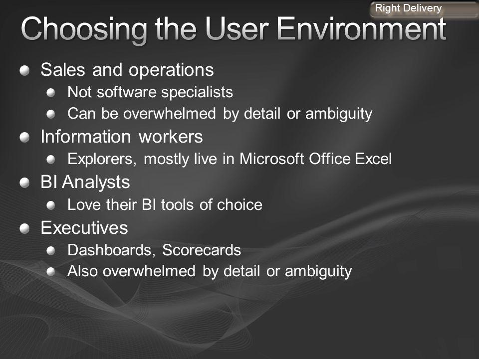Choosing the User Environment
