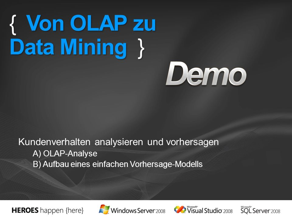 { Von OLAP zu Data Mining }