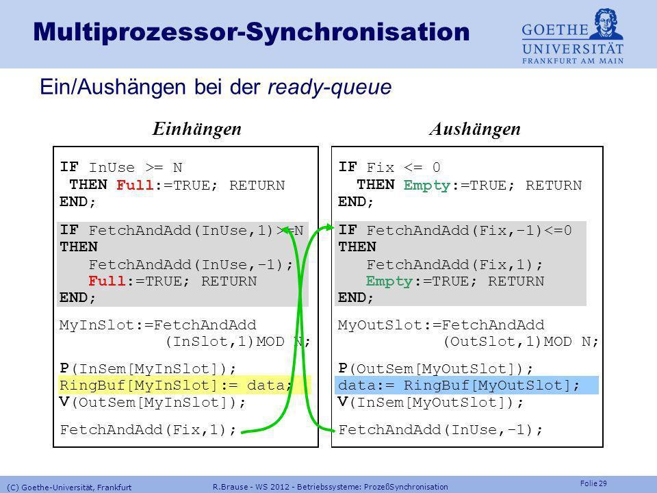 Multiprozessor-Synchronisation