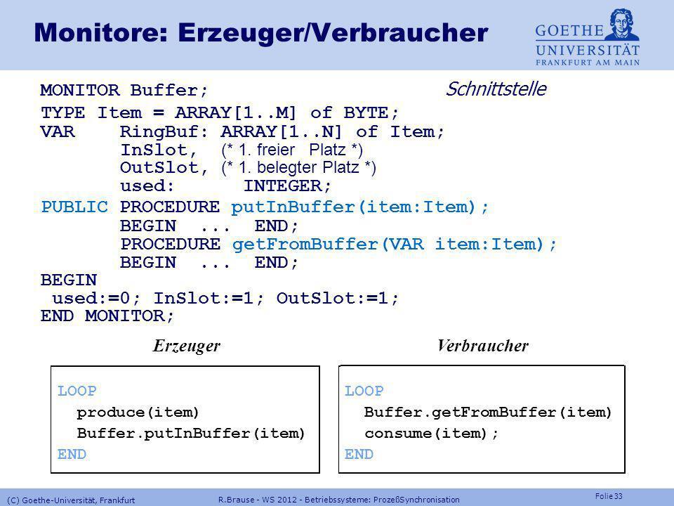 Monitore: Erzeuger/Verbraucher