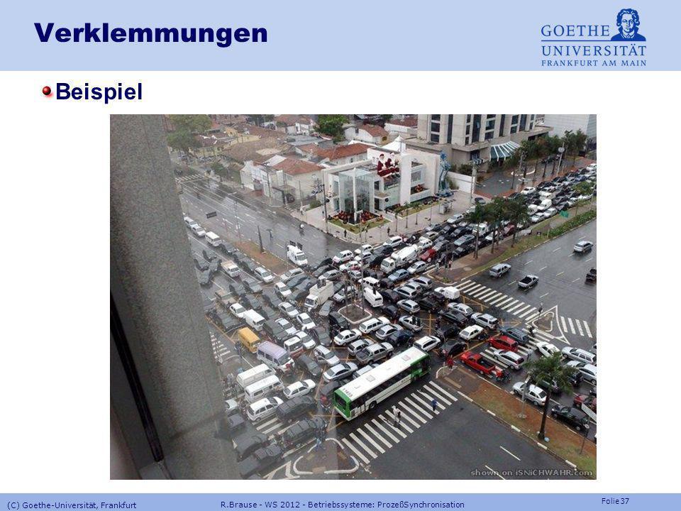 Verklemmungen Beispiel (C) Goethe-Universität, Frankfurt