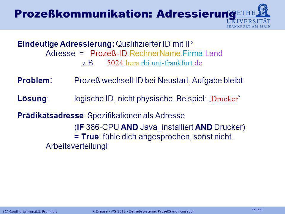 Prozeßkommunikation: Adressierung