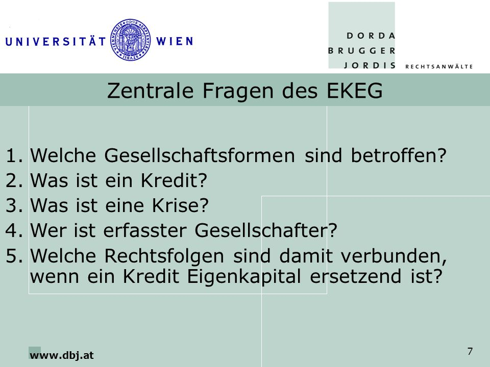 Zentrale Fragen des EKEG